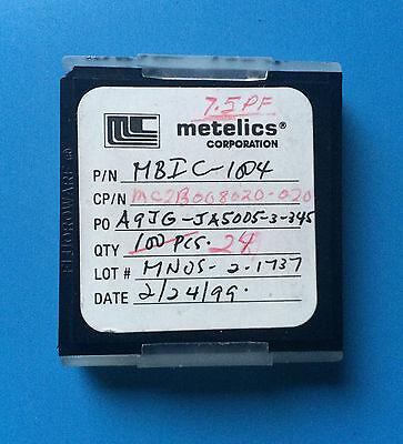 24x Mbic-1004 Metelics Mc2b008020-020 Capacitor Chip 7.5pf Rf Microwave 24units