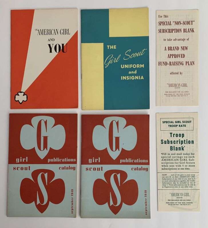 Lot of Vintage 1940's & 1950's Girl Scout Booklets
