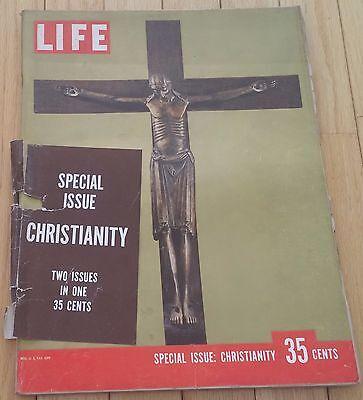 (LIFE MAGAZINE DECEMBER 26 1955 SPECIAL ISSUE CHRISTIANITY WERDEN CRUCIFIX)