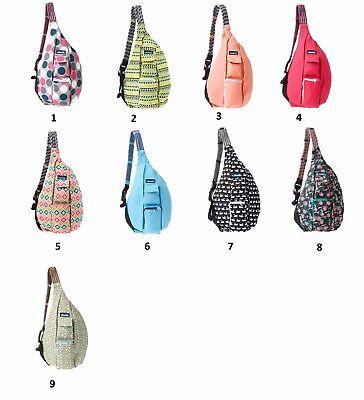 NWT Kavu Original Cotton Canvas Rope Bag Sling Everyday Travel Hiking Daypack