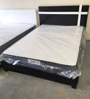 Brand new leather bed frame D$150,Q$170