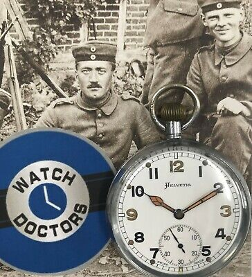 Helvetia WW ll Military Pocket Watch (627)