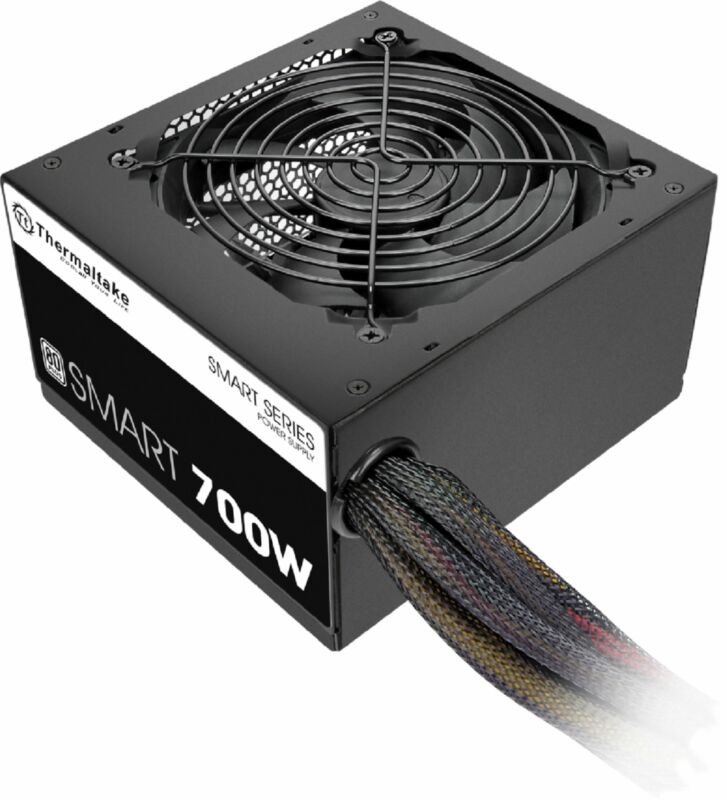 Thermaltake - SMART 700W ATX 80 Plus Power Supply - Black