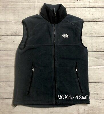 THE NORTH FACE VEST STONE BLUE / BLACK SIZE MEDIUM PRE OWNED EXCELLENT CONDITION North Face Mens Stone