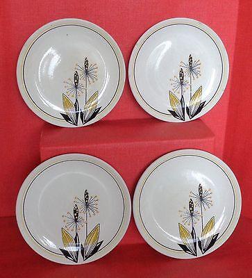 "4 Rare Vintage Wade Side Plate ""Plantain"" design"