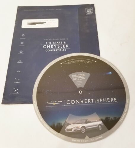 Rare Chrysler Convertible Product Brochure Includes Star Map 2005