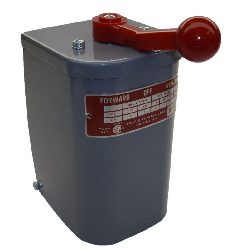2 hp-7.5 hp Electric Motor Reversing Drum Switch 1 & 3 Phase Position=Maintained
