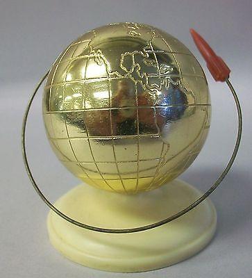 Rare 1961 USSR Soviet Russian 1st man in space Commemorative Globe  w/Rocket