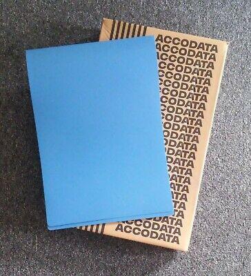 4 Count Accodata Square Ring Binders 59273 11 14 Dark Blue - New In Box