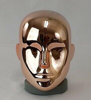 Less Than Perfect A Chrome Rose Gold Female Mannequin Head Part Pierced Ears