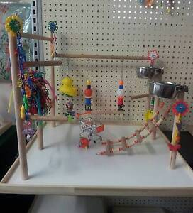 """Budgie Parrot Play Gym """"The Whopper"""" 62x61cm base Christies Beach Morphett Vale Area Preview"""