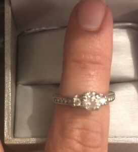 'Past', 'Present', 'Future' Engagement ring - size 6