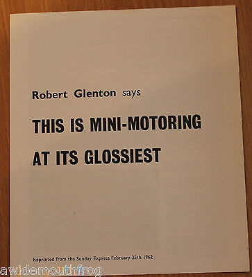 Riley Elf 1962 BMC Factory Produced Road Test Booklet ref no. 23/124 (42854)
