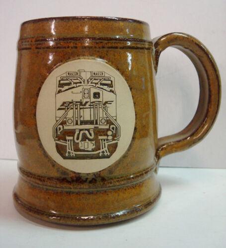 BNSF Burlington Northern Santa Fe Railroad Train 7701 Stoneware Mug Cup Swoosh