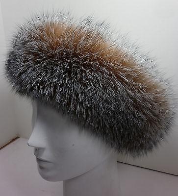 Real Crystal Fox Fur Headband New ( made in the U.S.A.) genuine - Fur Headband