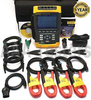 Fluke 435 Three Phase Power Quality Analyzer Meter W Interharmonics Inrush