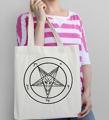 Baphomet Tragetasche Satan Teufel Anti Christus Hexe Craft Gothic Atheist