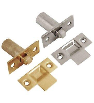 Chrome Brass Roller Latch - Adjustable Roller Mortice Door Ball Catch Latch Brass Chrome