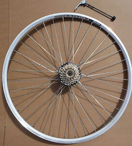 700c Silver Weinmann Road Bicycle Sports Bike Wheelset QR Shimano 6 or 7 Speed