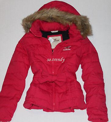 aba62051eddf9 HOLLISTER by Abercrombie Womens Cardiff Faux Fur Puffer Jacket Winter Coat S