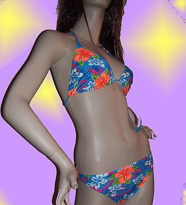 3 Teiler Bikini Set Neckholder mit Hüfttuch Bademode Bikinis L XL XXL 34 36 38