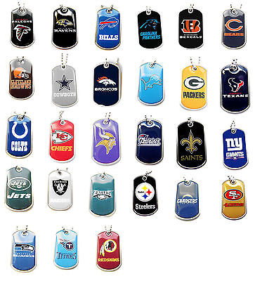 dog tag necklace NFL PICK YOUR TEAM not a cheap gumball machine tag - Cheap Gumball Machine