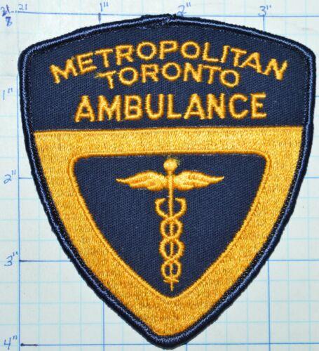 CANADA, METROPOLITAN TORONTO AMBULANCE EMS EMERGENCY RESCUE PATCH