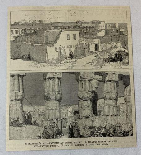 1885 magazine engraving~ GASTON MASPERO