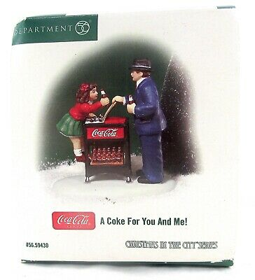 "DEPARTMENT 56 - A COKE FOR YOU AND ME! ""Christmas in the City"" Coca Cola 59430"