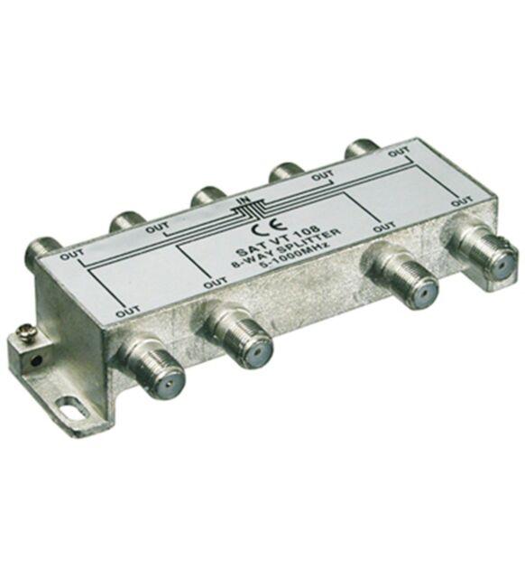 SAT BK Verteiler / Splitter  8-fach 5-1000 MHz  67023