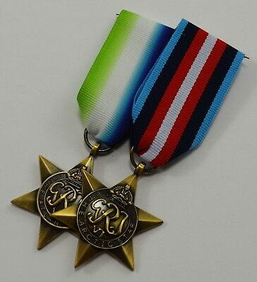 Superb Pair of WW2 Campaign Star Medals with Ribbons. Atantic and Arctic Star