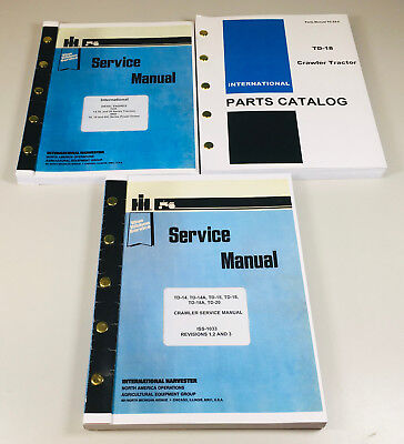 International Td18 Crawler Chassis Engine Service Parts Manual Catalog Set