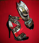 GUESS Synthetic Leopard Heels for Women