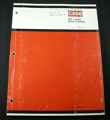 Case W9 Loader Tractor Parts Manual Book Catalog Prior Oem To Sn 8150186