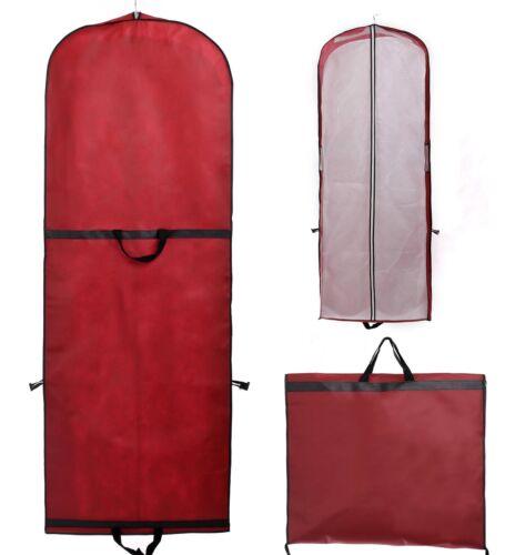 Kleidersack 180 cm Schutzhülle Anzugtasche für Brautkleider Anzug Abendkleid Rot
