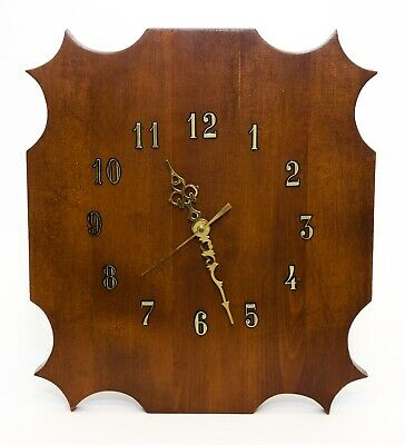 Vintage Hand Crafted Wall Hanging Clock On Wooden Plaque