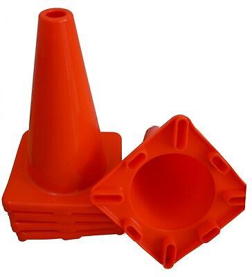 6pcs 12 Inch Orange Road Safety Pvc Traffic Cone Construction Parking