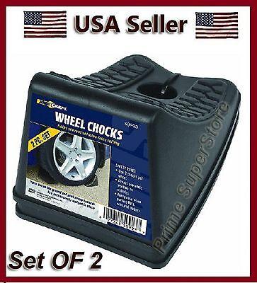 (Heavy Duty Wheel /Tire Stop Block Chocks Set RV/Camper/Trailer Car 2 Pack)
