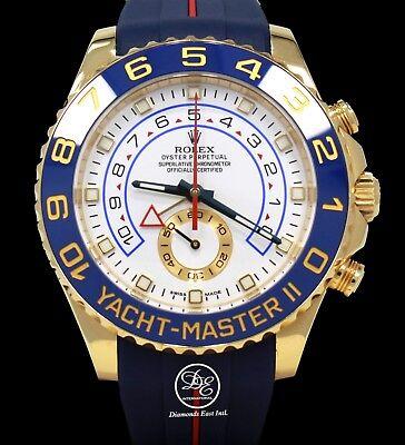 Rolex Yacht Master II 116688 18K Yellow Gold Watch / Rubber B Band Watch *MINT*