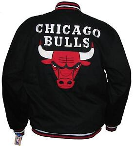 NBA-CHICAGO-BULLS-LIGHT-TWILL-COTTON-BLACK-JACKET-MICHAEL-JORDAN-NWT-ZIP-FRONT
