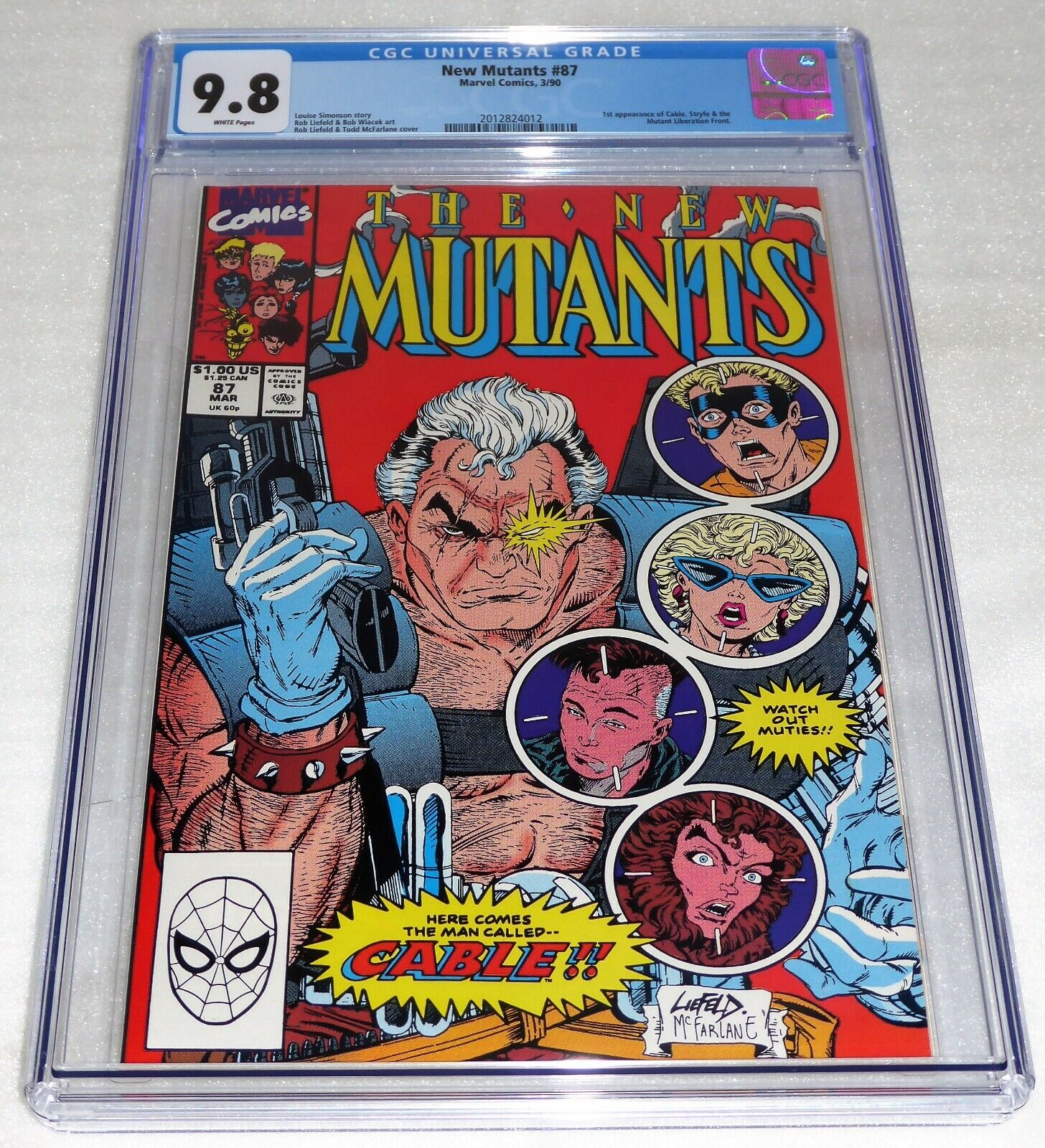 New Mutants #87 1st Cable Appearance CGC Universal Grade Comic 9.8 Marvel POW