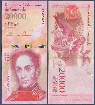 VENEZUELA PNEW 20000 BOLIVARES F. ND 2016 UNC GEM USA SELLER - $2.99