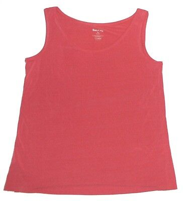 White Stag New Pink Rose Scoop Neck Slinky Tank Top Womens Size M Medium Rose Scoop