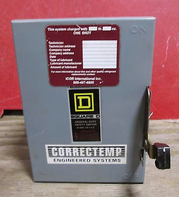 Square D 30 Amp Safety Switch D321n Flat Cover