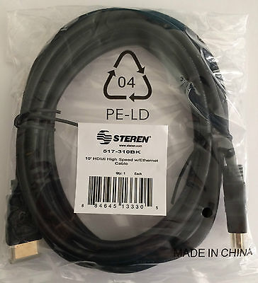 STEREN 10FT Premium High Speed HDMI cable for 1080P HDTV XBOX ONE PS4 LED TV