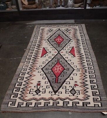 Large Antique Navajo Rug - Crystal Trading Post - Waterbug c. 1915