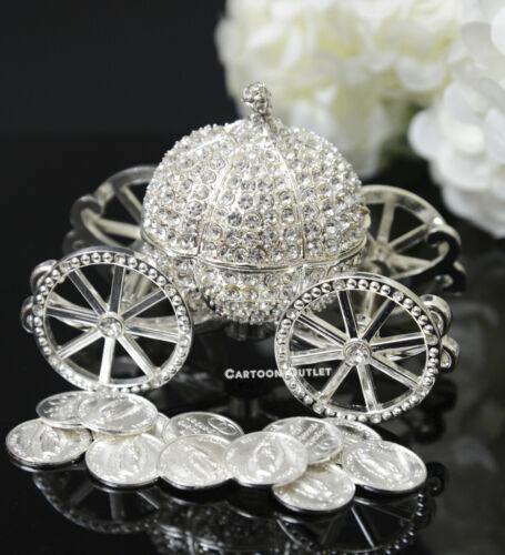 ARRAS DE BODA WEDDING CEREMONY 13 UNITY COINS SILVER CINDERELLA CARRIAGE BRIDAL