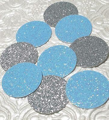 Baby blue and silver glitter confetti wedding bridal birthday Cinderella party