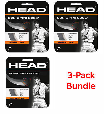 HEAD Sonic Pro Edge 16 gauge tennis racquet string set - 3 Packs - FREE SHIPPING