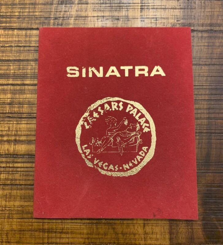 1970s Frank Sinatra Caesars Palace Concert Announcement Guide Las Vegas Rat Pack